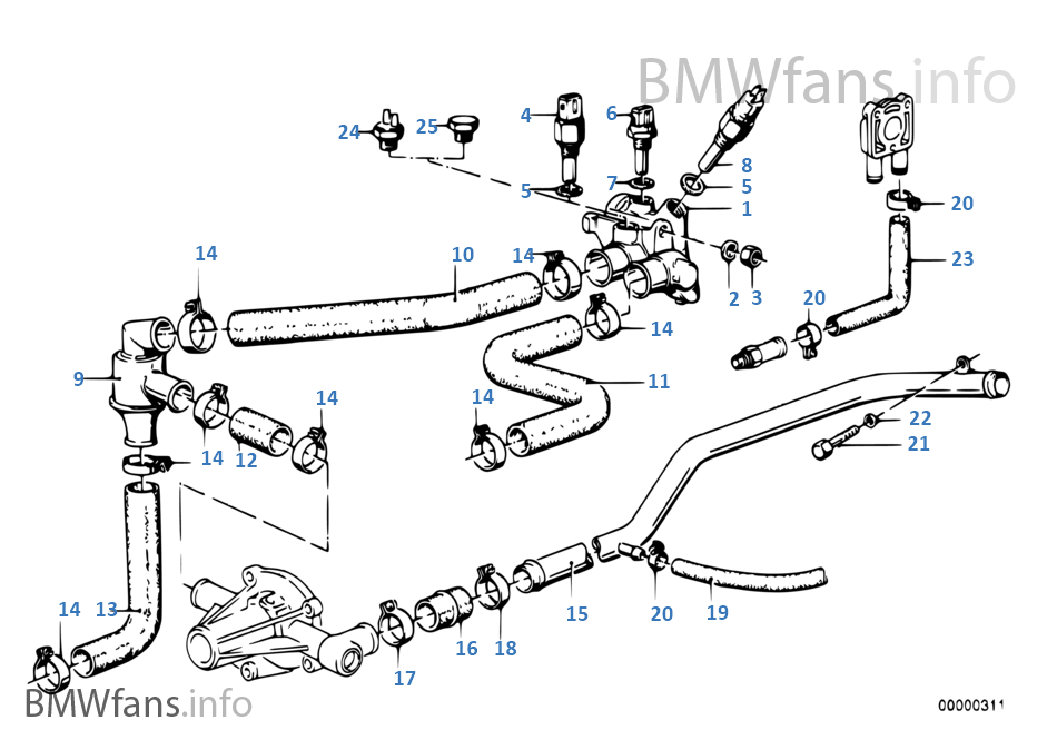BMW Thermostat e21 e12 02 NK 2000cs 2002 1800 1802 2000