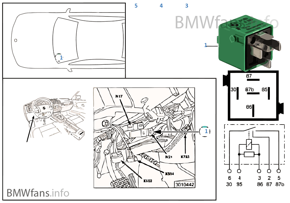 E36 318i Fuel Pump Relay. Diagrams. AutosMoviles.Com