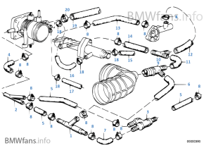 Vacuum control — engine | BMW 5' E28 520i M20 Europe