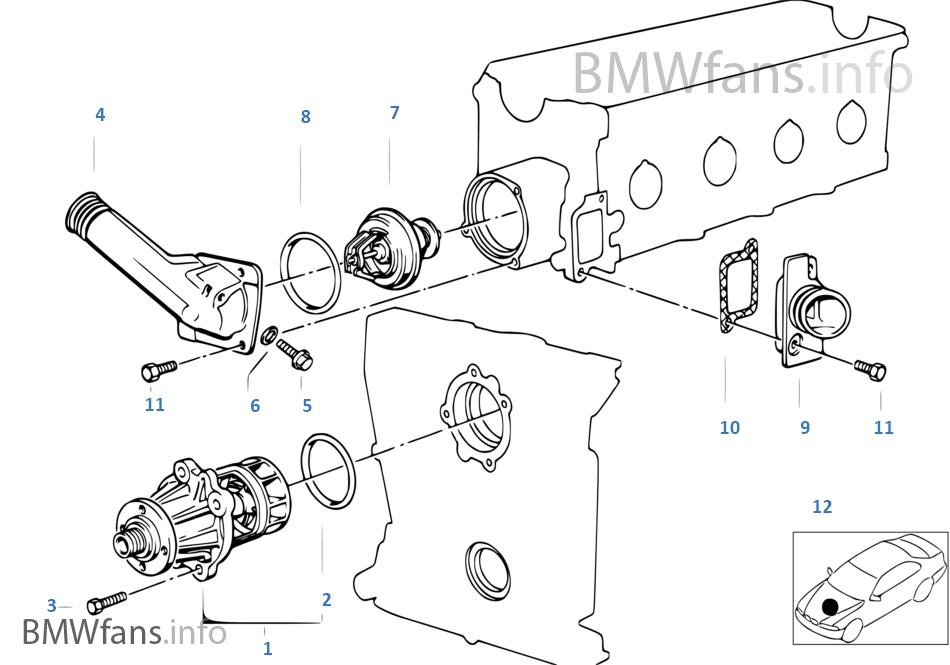 Bmw E30 M40 Water Pump