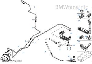Bremsleitung hinten DSC | BMW X5 E53 X5 30d M57N Europa