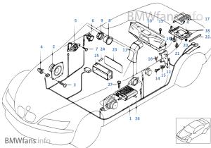 Parts f Harman Kardon tophifi system | BMW Z3 E36 Z3 28 M52 USA