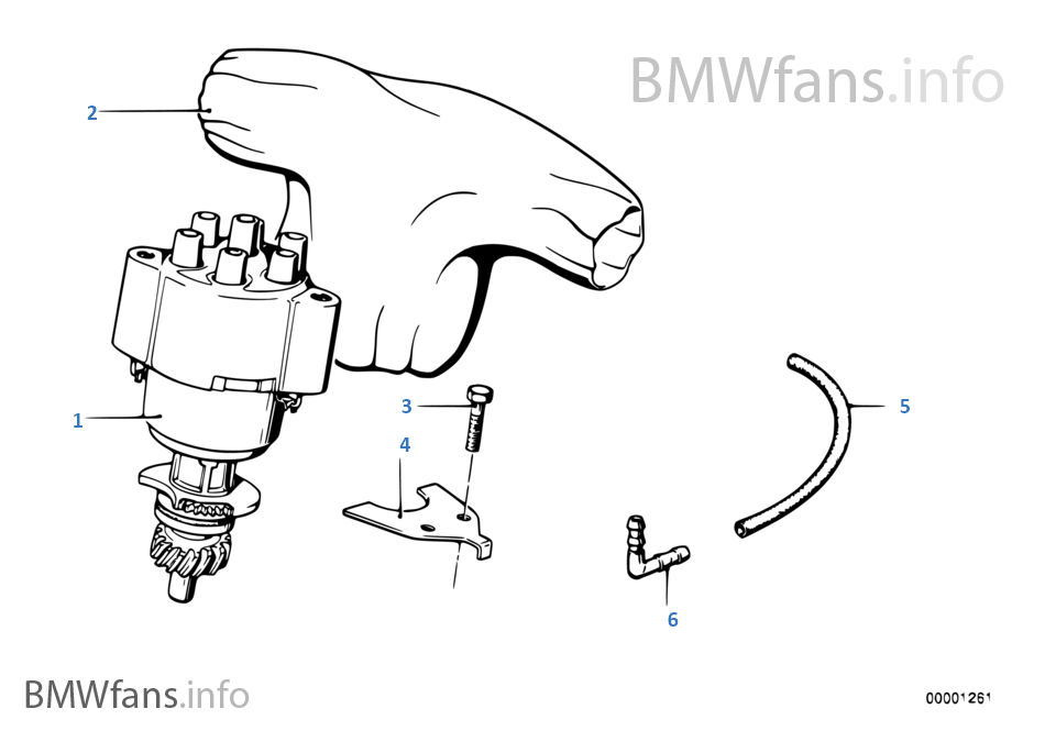 BMW e21 e12 m20 323i Zündverteiler ignition distributor