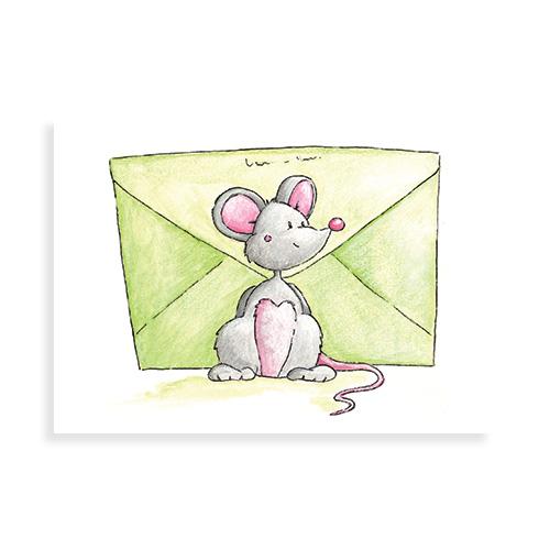 Muisje met envelop