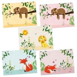 Set van 5 dieren artprints A4