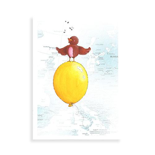 Vogeltje met ballon