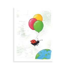 Lieveheersbeestje met ballonnen