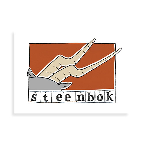 """Voorkant kaart """"Steenbok"""""""