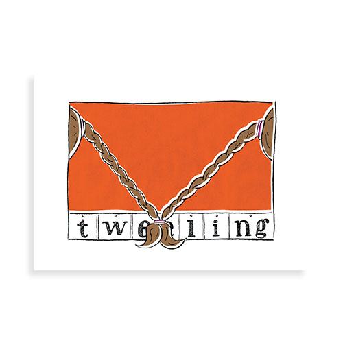 """Voorkant kaart """"Tweeling"""""""