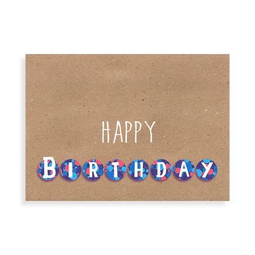 "Voorkant kaart ""Happy Birthday 1"""