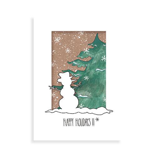 """Voorkant kaart """"Sneeuwpop (Kerstserie1)"""""""