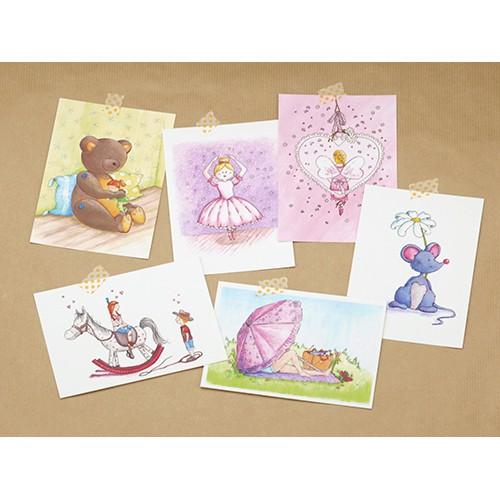 Set van 6 ansichtkaarten, thema: Lief