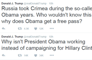 Donald Trump fires back at Obama: 'Why aren't you working?'