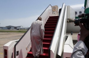 PHOTOS: President Buhari Departs Abuja For 71st UNGA Session In New York