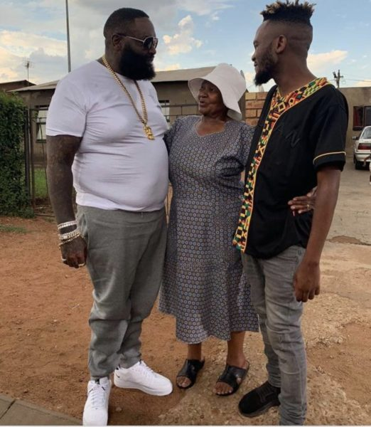 Kwesta brings Rick Ross to South Africa, American rapper meets his mom (Photos)