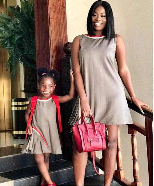 Sophia Momodu And Daughter, Imade Step Out In Matching Attire