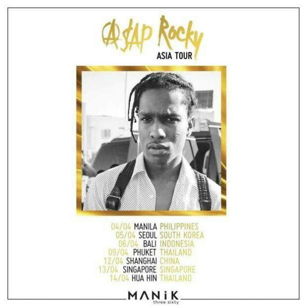 Asap Rocky Announces Asia Tour