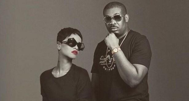 Photo of Don Jazzy 'laying' on Rihanna's chest sets social media ablaze