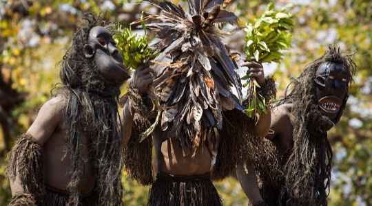 CRAZY!! See This Tribe In Africa That Eats Food Prepared From A Dead Body During A Burial!