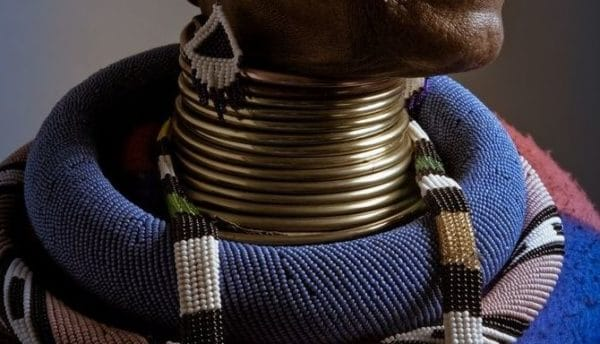 Why do the people of Ndebele South Africa wear neck rings?