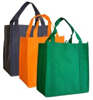 100% NWPP (non-woven polyproylene) reusable bag by 1 Bag At A Time (from Huffington Post article)