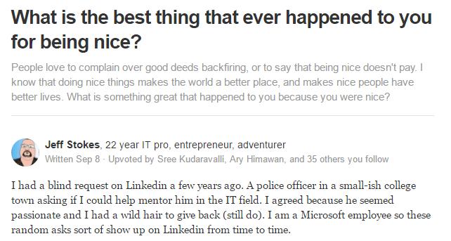 Quora post