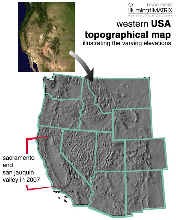 West USA Topographical map