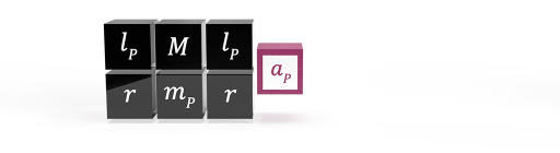 The natural formula for gravitational acceleration shown as dimensionless proportionality operators and maximum acceleration potential