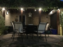Seating Area, Milliners Way, St Micheals Mead, Bishops Stortford, illuminating gardens, garden lighting