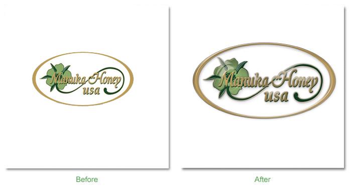 Manuka Honey USA Logo Before After