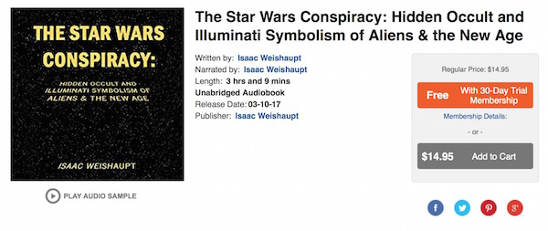 The Star Wars Conspiracy Audible Acx Illuminatiwatcher