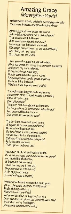 amazing grace Meravigliosa Grazia