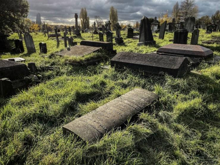 Austin's grave.