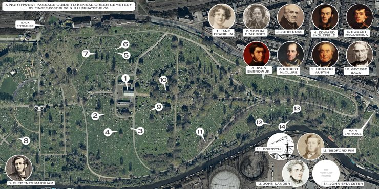 Cemetery map.