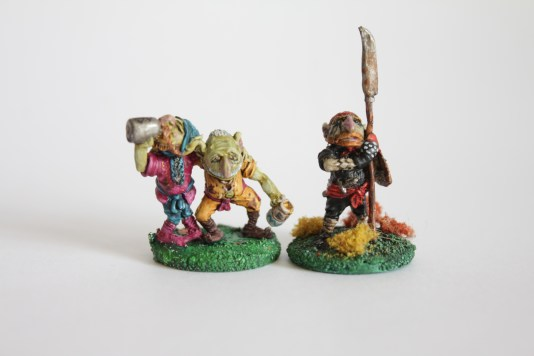 """Why dun you fellas act loike proppa Goblins?"" Citadel Drunken Goblins - 1983 with Citadel Great Goblin - 1983"