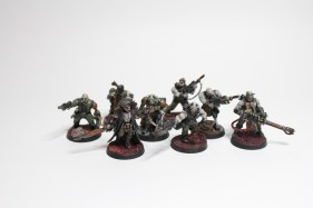 Blood-drenched cultists
