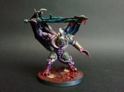 A repainted Daemon-Prince, converted from my Slaanesh army to lead the planned Chaos alliance force