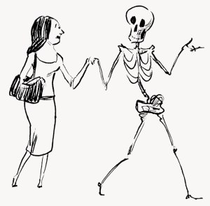 kremation, danse macabre