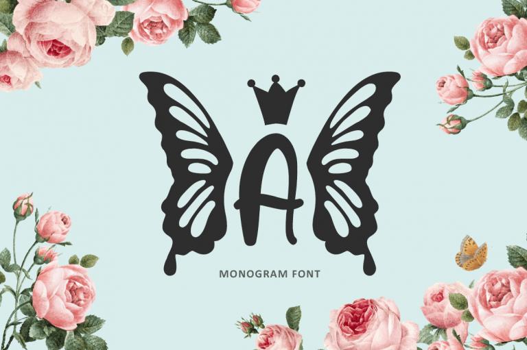 Princess Butterfly Monogram