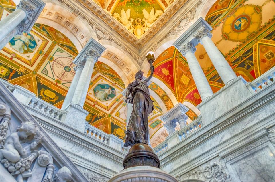Library of Congress Main Hall Washington DC, USA Photo by Marco Rubino Pond5