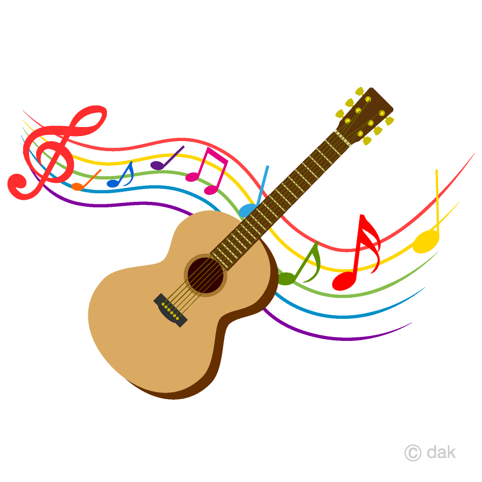 medium resolution of guitar and colorful note music clipart