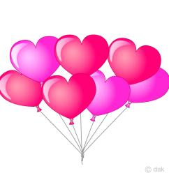 bunch of heart balloons clipart [ 960 x 960 Pixel ]