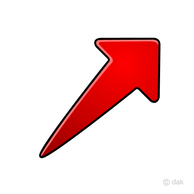 right upward arrow symbol