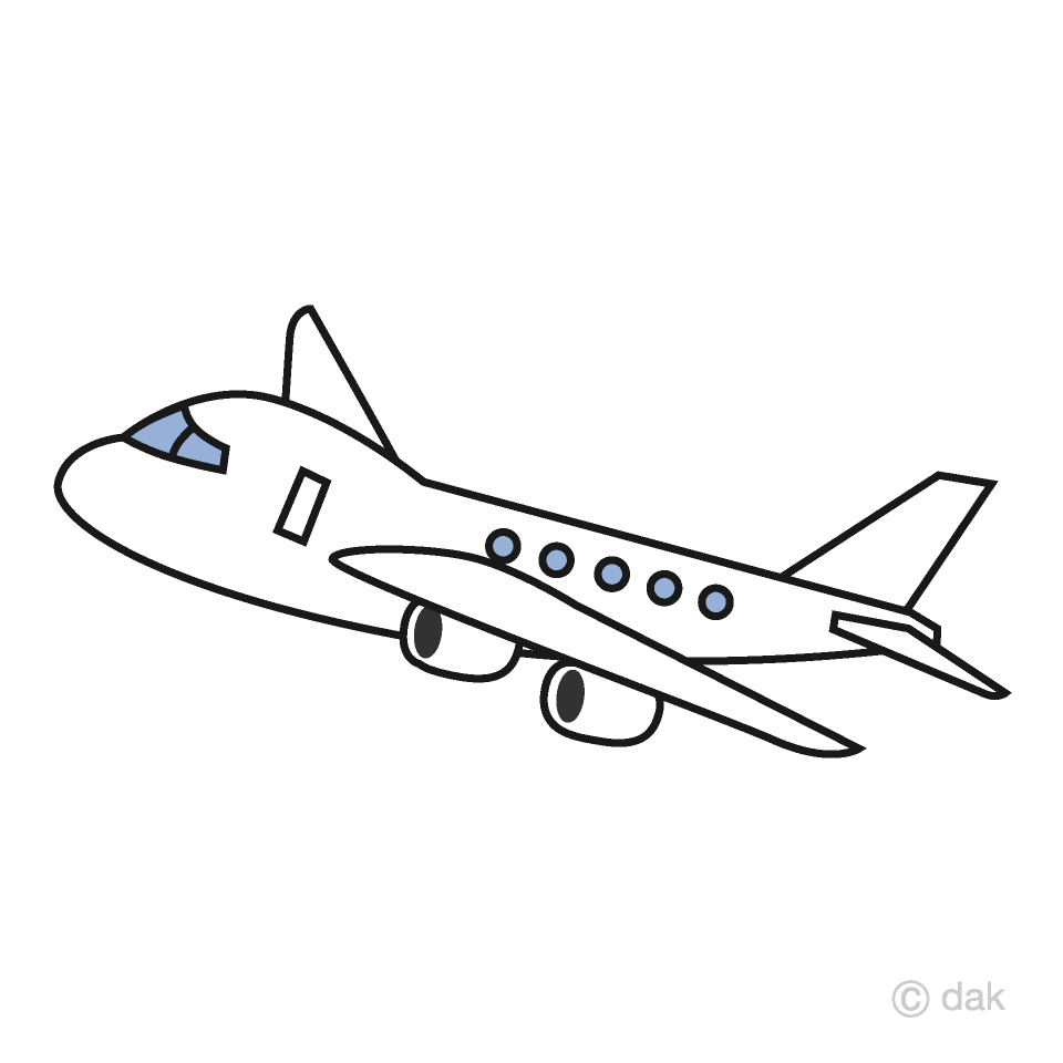 hight resolution of simple airplane clipart