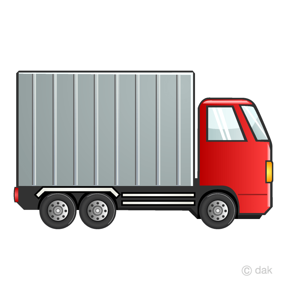 medium resolution of red container truck clipart