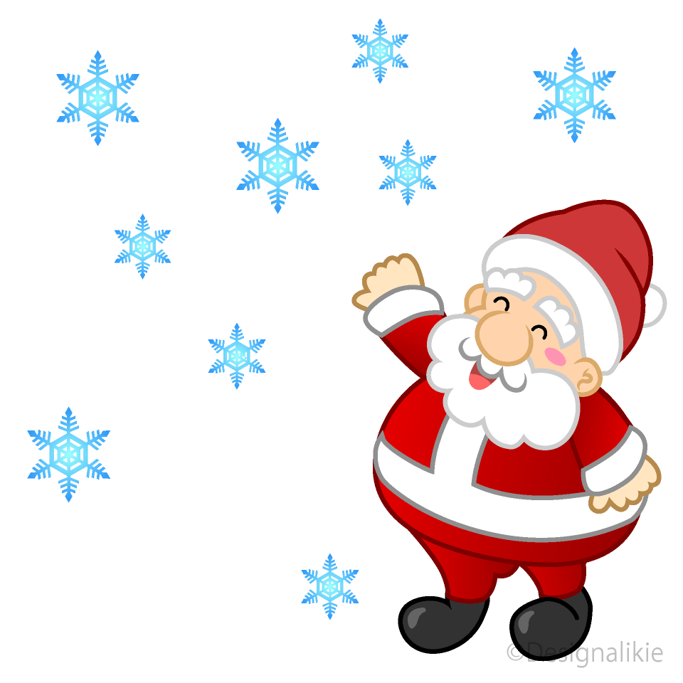hight resolution of falling snow and santa clipart
