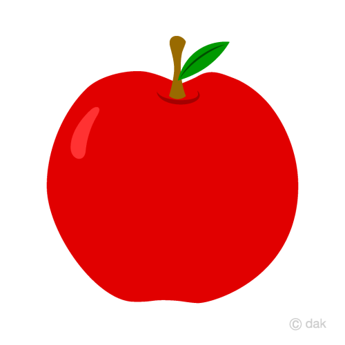small resolution of simple red apple clipart