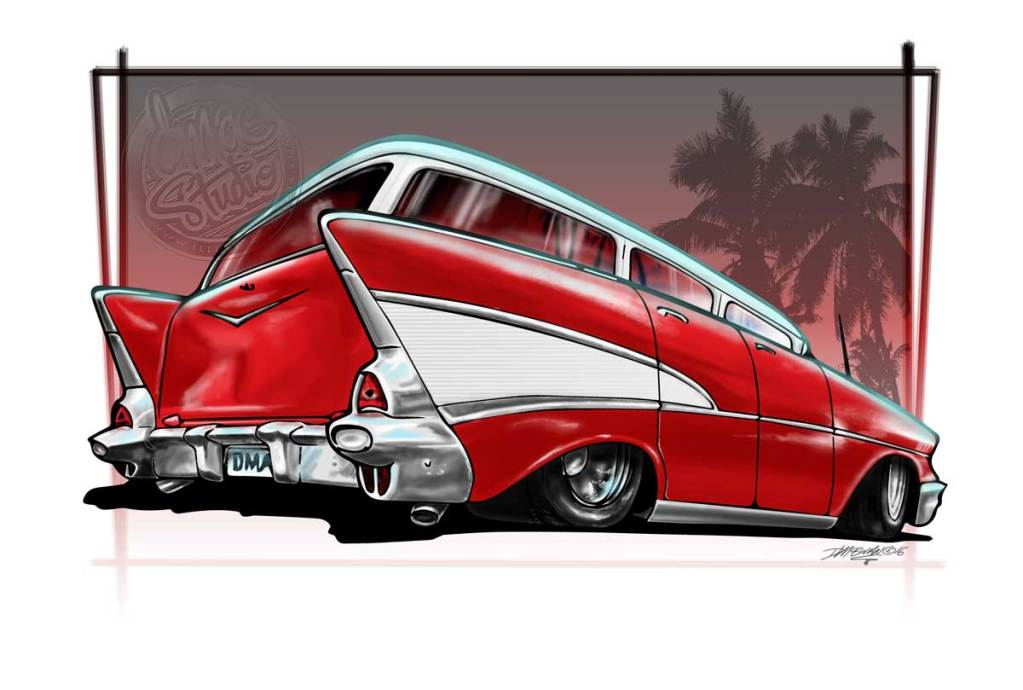 57 wagon digital drawing