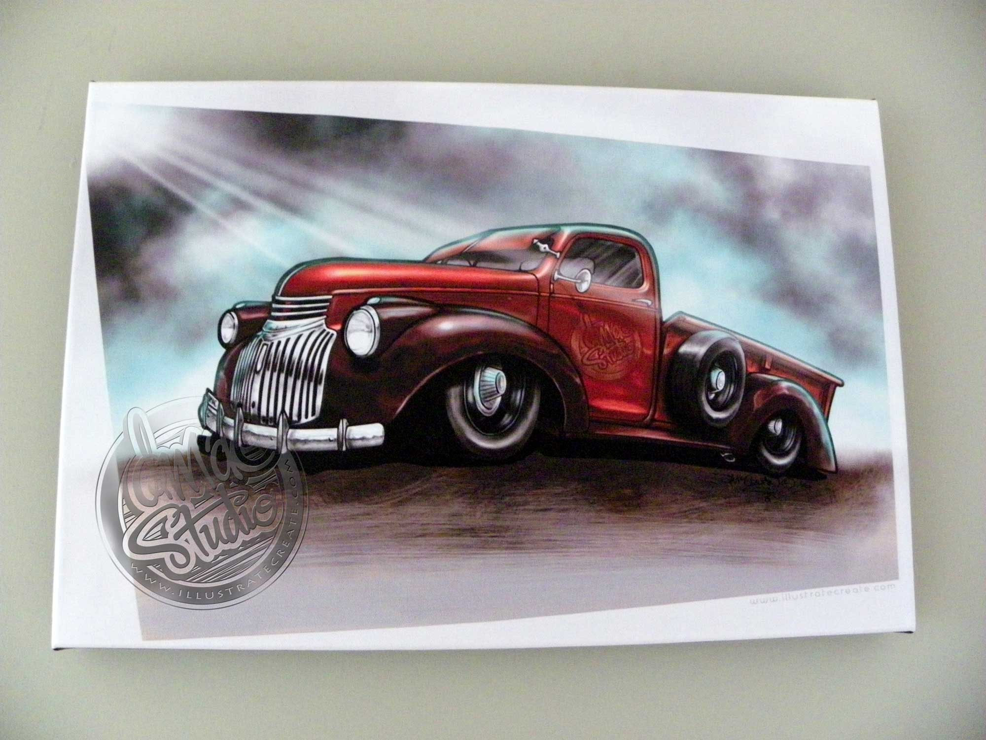 1946 Chevrolet Pick Up Art Print #2 - DMAC Studio, Illustrate Create