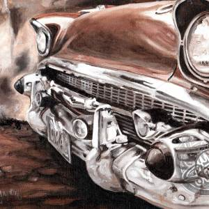 57 chevy oil paint Papamoa Mt Maunganui Tauranga Bay of Plenty New Zealand